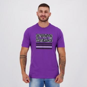 Camiseta Hurley Silk Boardlines Roxa