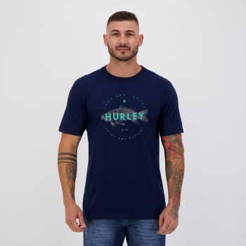 Camiseta Hurley Silk Fish Marinho