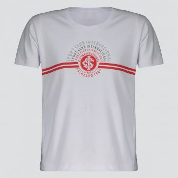 Camiseta Internacional Arcos Infantil Branca