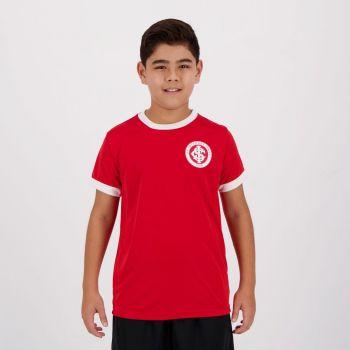 Camiseta Internacional Colorado Juvenil Vermelha e Branca