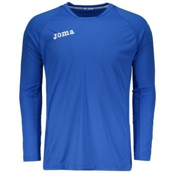 Camiseta Joma Fit One Manga Longa Azul