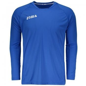 Camiseta Joma Fit One Manga Longa Azul
