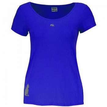 Camiseta Kanxa Fly Cat Feminina Azul
