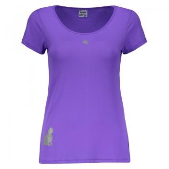 Camiseta Kanxa Fly Cat Feminina Roxa