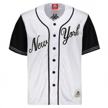 Camiseta Kappa Baseball New York 17 Branca e Preta