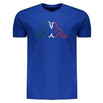 Camiseta Kappa Itália Logo Azul