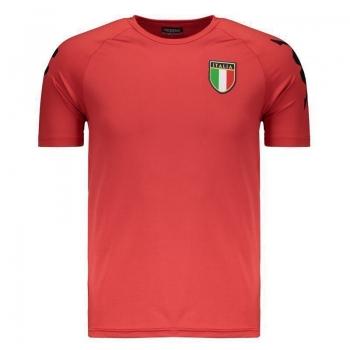 Camiseta Kappa Kombat Itália Basic Vermelha