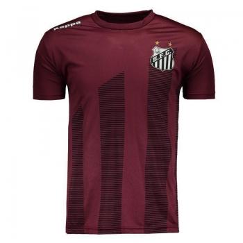 Camiseta Kappa Santos 2017 Brandão Bordô