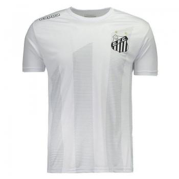 Camiseta Kappa Santos 2017 Brandão Branca