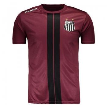 Camiseta Kappa Santos 2017 Dorval Vinho