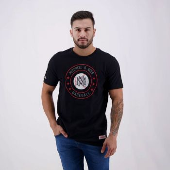 Camiseta Mitchell & Ness Baseball Circle Preta