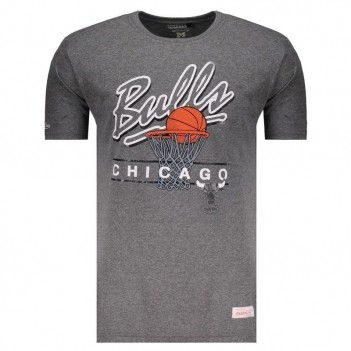Camiseta Mitchell & Ness NBA Chicago Bulls Brand Cinza