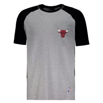 Camiseta Mitchell & Ness NBA Chicago Bulls Cinza Mescla