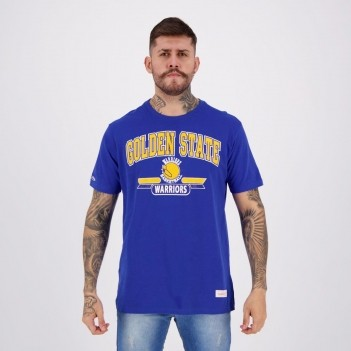 Camiseta Mitchell & Ness NBA Golden State Warriors Azul e Amarela