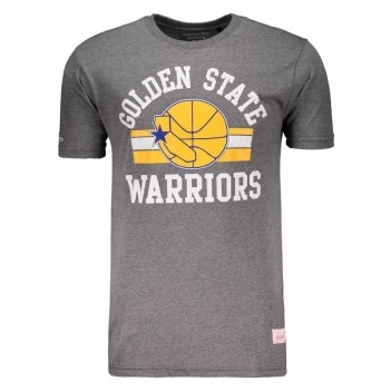 Camiseta Mitchell & Ness NBA Golden State Warriors Especial Cinza