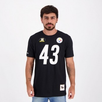 Camiseta Mitchell & Ness NFL Pittsburgh Steelers Polamalu Preta