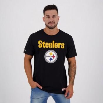 Camiseta Mitchell & Ness NFL Pittsburgh Steelers Preta