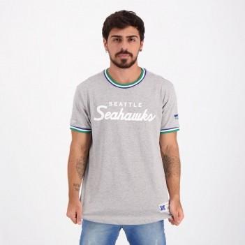 Camiseta Mitchell & Ness NFL Seattle Seahawks Cinza Mescla