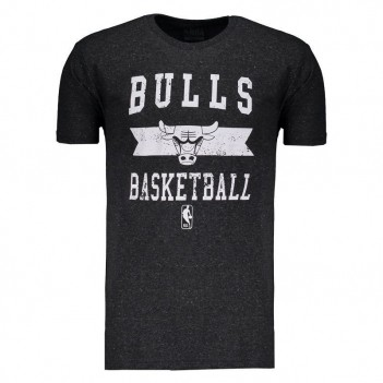 Camiseta NBA Chicago Bulls Destroyed Grafite Mescla