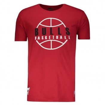 Camiseta NBA Chicago Bulls Outline Vermelha