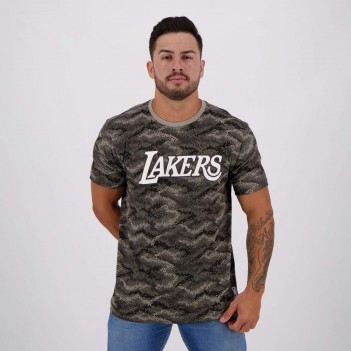 Camiseta NBA Los Angeles Lakers Estampada Cinza