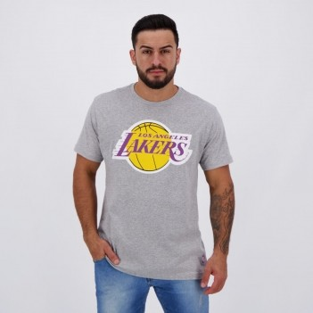 Camiseta NBA Los Angeles Lakers Logo Cinza Mescla