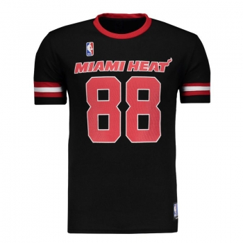 Camiseta NBA Miami Heat Premium Preta
