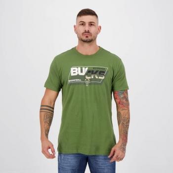 Camiseta NBA Milwaukee Bucks Print Verde