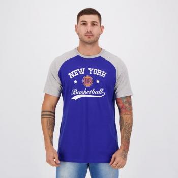 Camiseta NBA New York Knicks Outside Azul