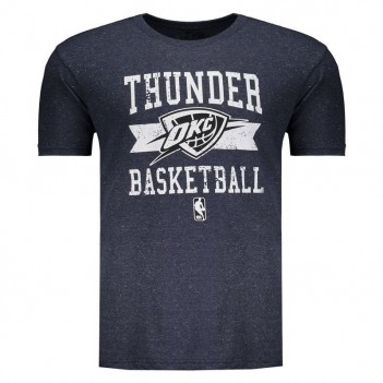 Camiseta NBA Oklahoma City Thunder Destroyed Marinho Mescla