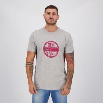 Camiseta New Era 59 Fifty Cinza Mescla