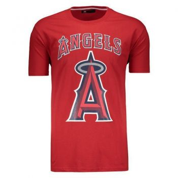 Camiseta New Era MLB Los Angeles Angels Escudo Vermelha