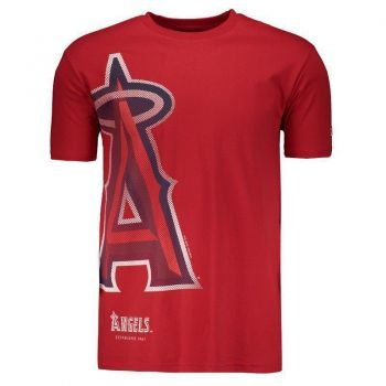 Camiseta New Era MLB Los Angeles Angels Vermelha