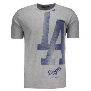 Camiseta New Era MLB Los Angeles Dodgers Cinza