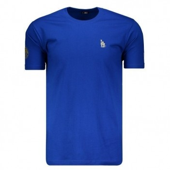Camiseta New Era MLB Los Angeles Dodgers Azul e Dourado