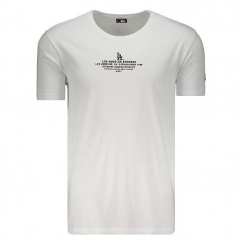 Camiseta New Era MLB Los Angeles Dodgers Branca