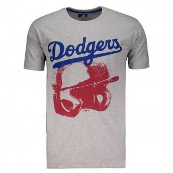 Camiseta New Era MLB Los Angeles Dodgers Logo Cinza
