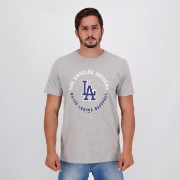 Camiseta New Era MLB Los Angeles Dodgers IV Cinza Mescla