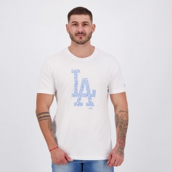 Camiseta New Era MLB Los Angeles Dodgers Logo Branca