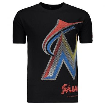 Camiseta New Era MLB Miami Marlins Preta