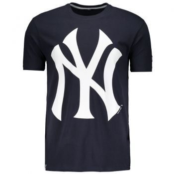 Camiseta New Era MLB New York Yankees Azul e Branco