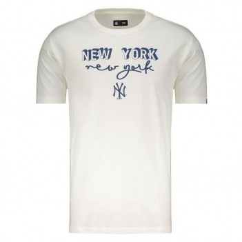 Camiseta New Era MLB New York Yankees Escudo Branca