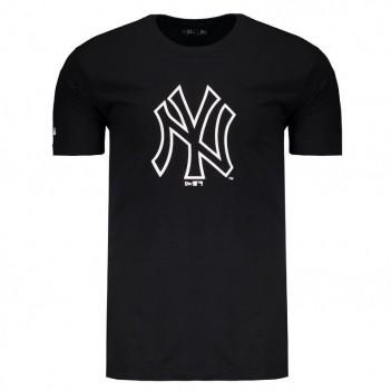 Camiseta New Era MLB New York Yankees Brand Preta