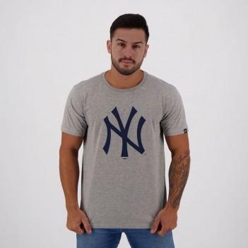 Camiseta New Era MLB New York Yankees Essentials Cinza Mescla