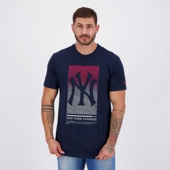 Camiseta New Era MLB New York Yankees Extra Marinho