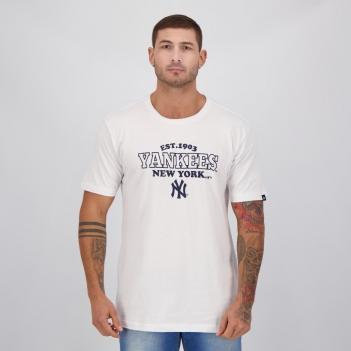 Camiseta New Era MLB New York Yankees Stripes Branca