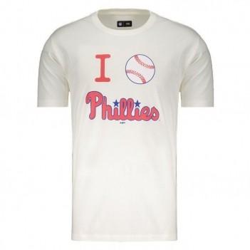 Camiseta New Era MLB Philadelphia Phillies Branca