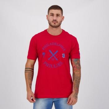 Camiseta New Era MLB Philadelphia Phillies Vermelha