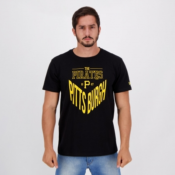 Camiseta New Era MLB Pittsburgh Pirates IV Preta