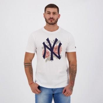 Camiseta New Era MLB Yankees Blooming Branca